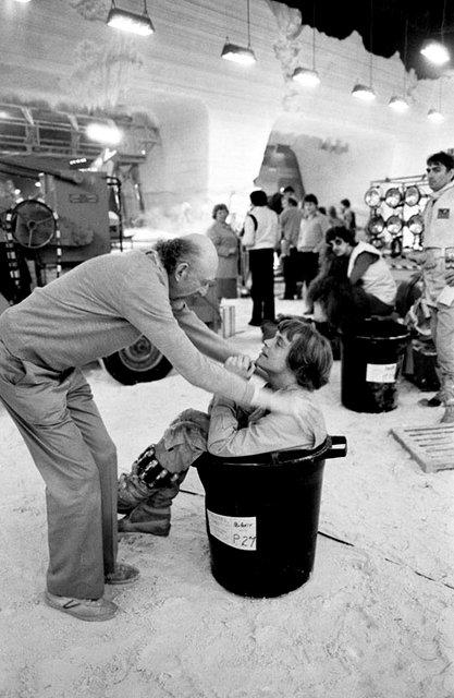 Irvin Kershner és Mark Hamill A Birodalom visszavág (1980)