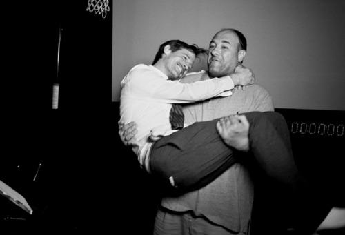 Spike Jonze és James Gandolfini Ahol a vadak várnak (2009)