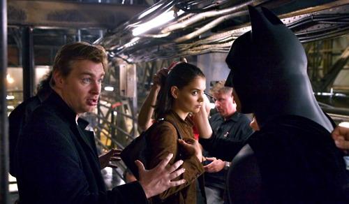 Christopher Nolan, Katie Holmes és Christian Bale Batman: Kezdődik! (2005)