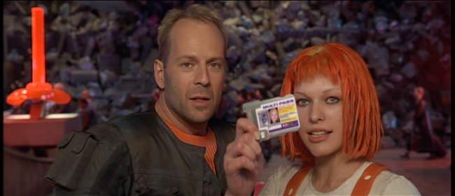 Bruce Willis és Milla Jovovovich