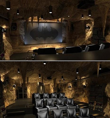 Batman Batcave theme home theatre
