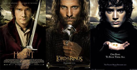 Hobbit LOTR Poster Comparison
