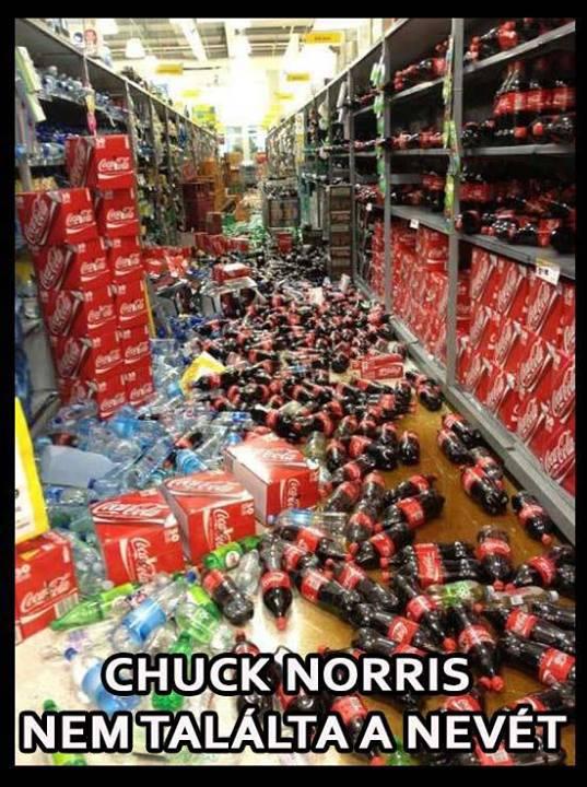 Chuck Norris esete a Coca Cola dobozokkal