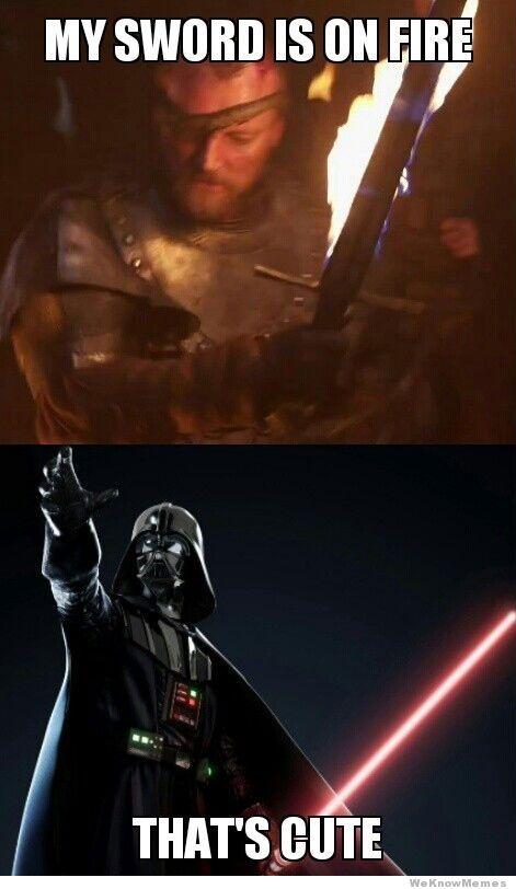 wars vs thrones my sword is on fire