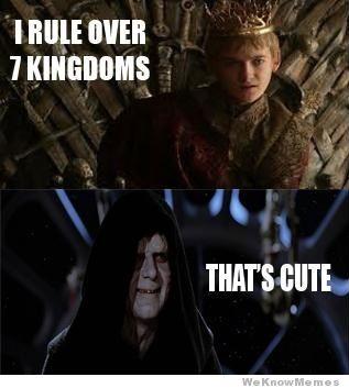 wars vs thrones thats cute 2