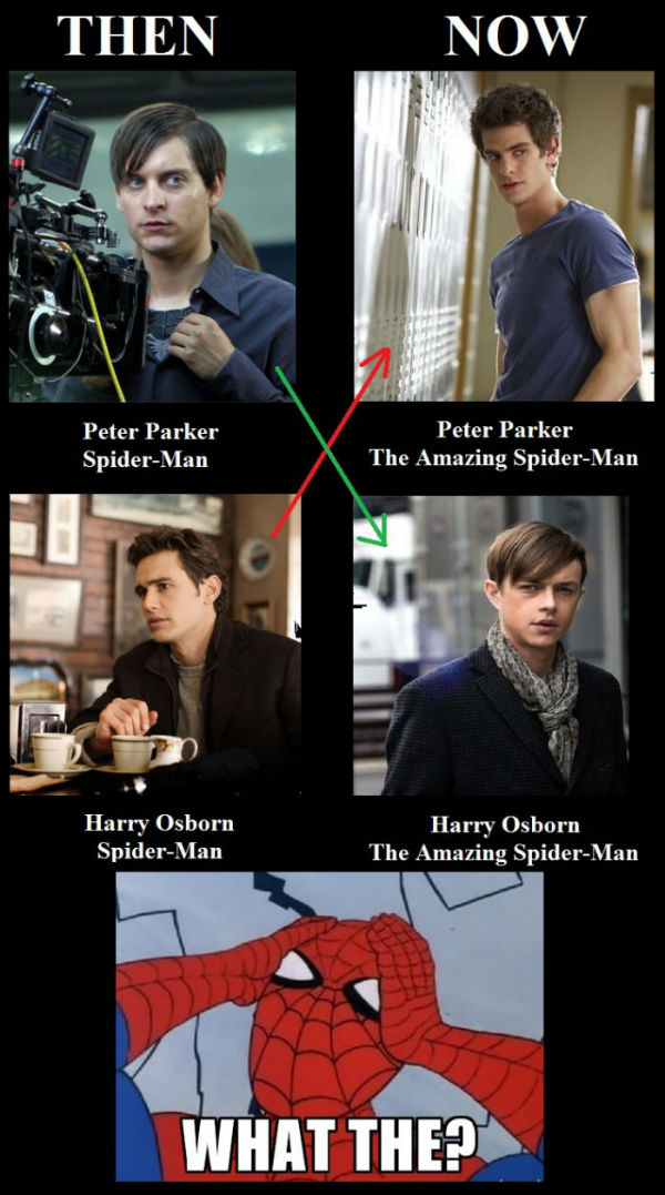 spiderman-then-vs-now