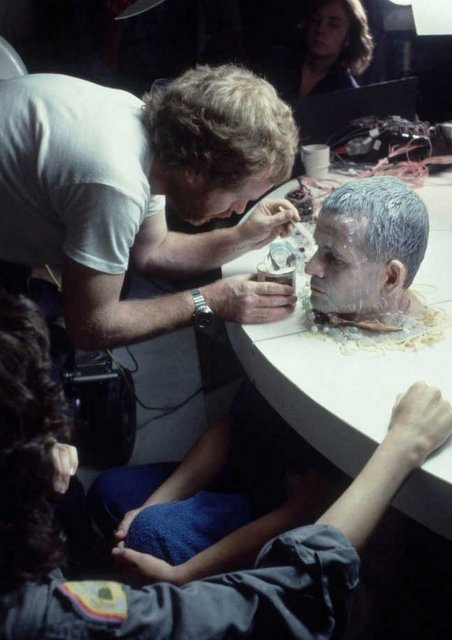 Ridley-Scott-putting-condensed-milk-on-the-face-of-Ian-Holm-on-the-set-of-Alien-001