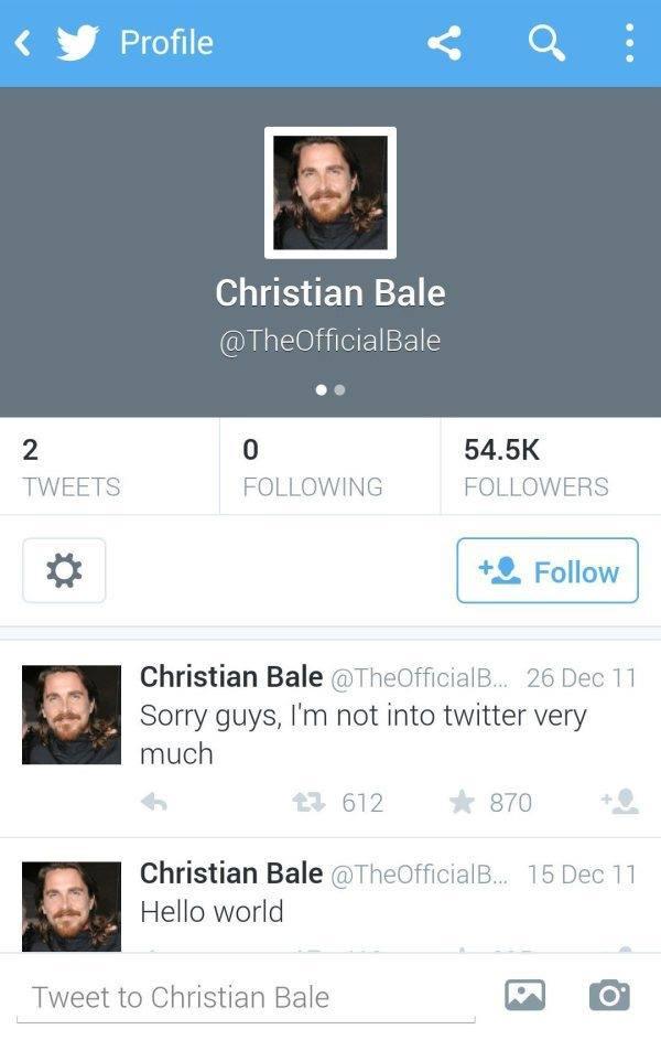 Bale twittere