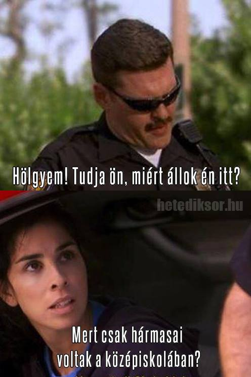 Sarah Silverman és a rendőr