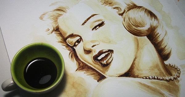 marilyn_monroe-painting-coffee-art
