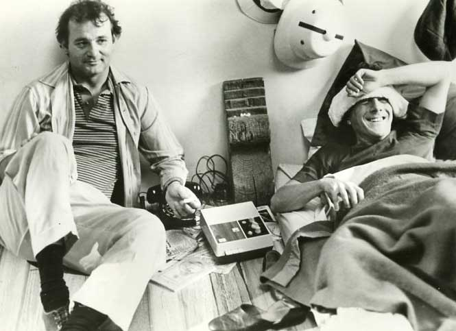 Bill-Murray-and-Dustin-Hoffman-on-the-set-of-Tootsie