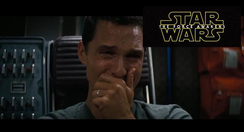 Matthew McConaughey Interstellar Star Wars reaction April 2015
