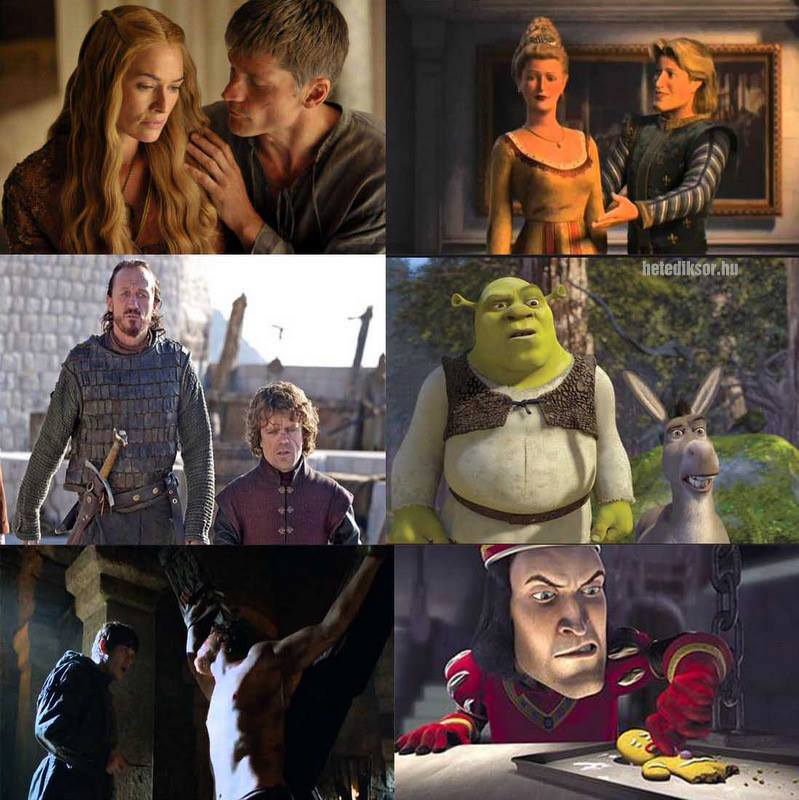 Trónok vs. Shrek