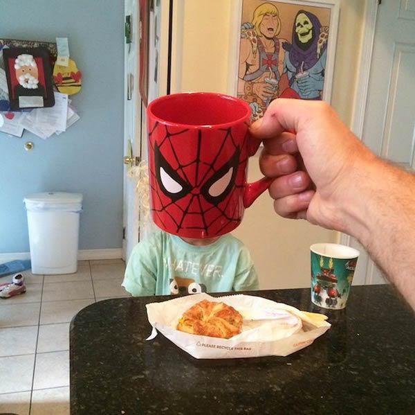 Pókember reggeli
