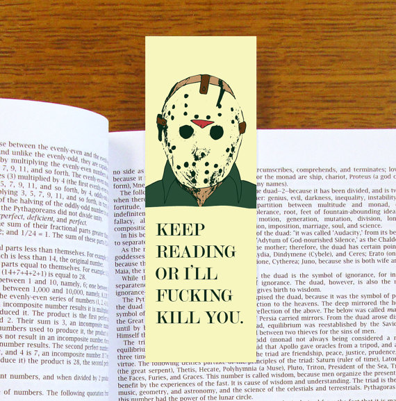 bájos könyvjelző