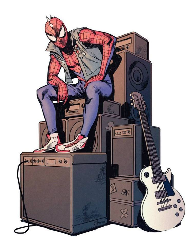 Spiderman rock