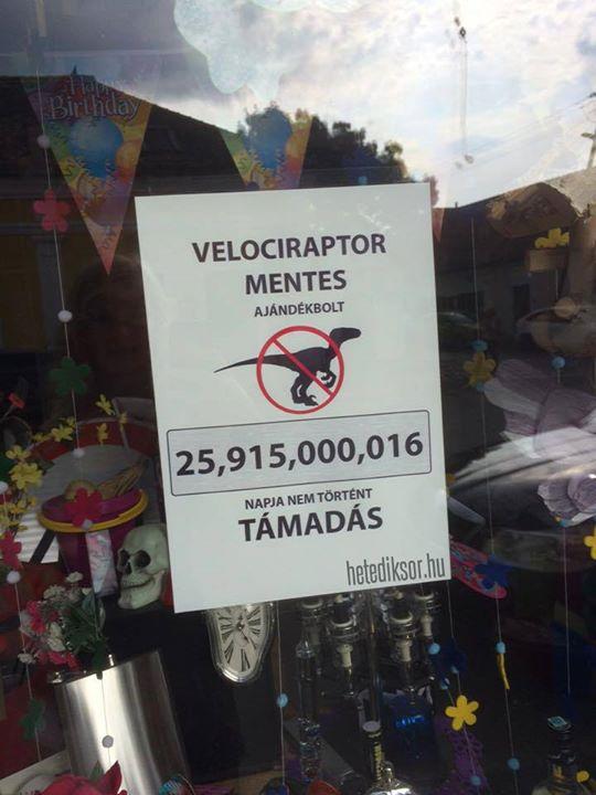 Velociraptormentes ajándékbolt Szentendre