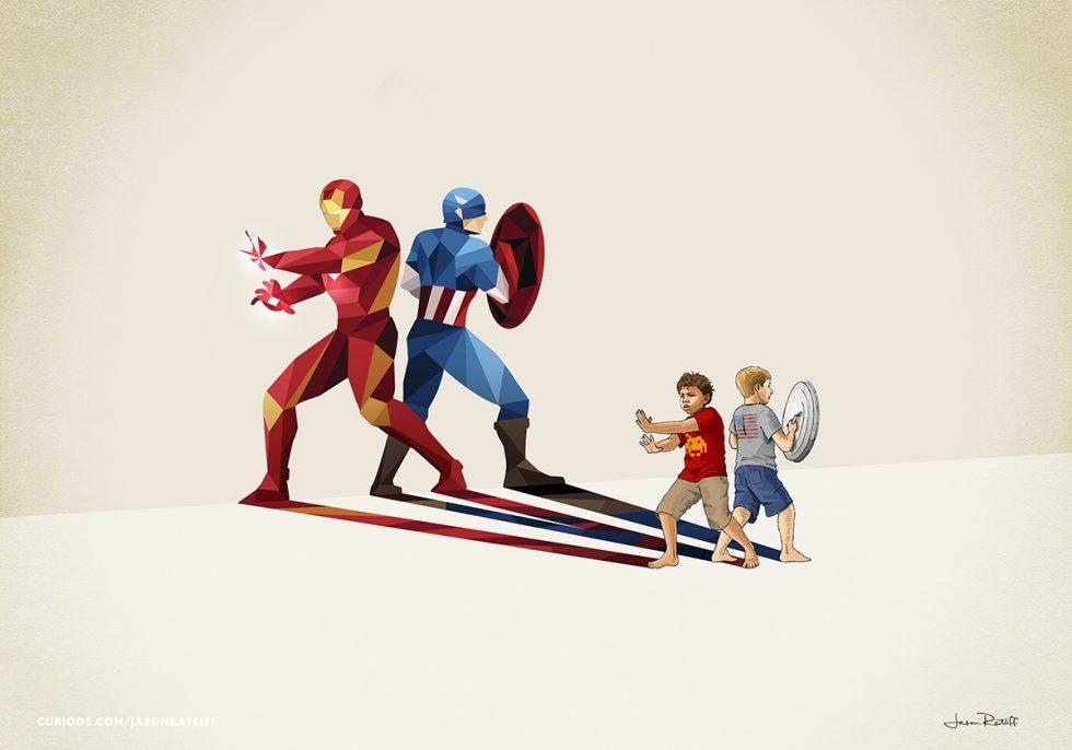 07 Iron Man and Captain American Jason Ratliff Comic Book Heroes