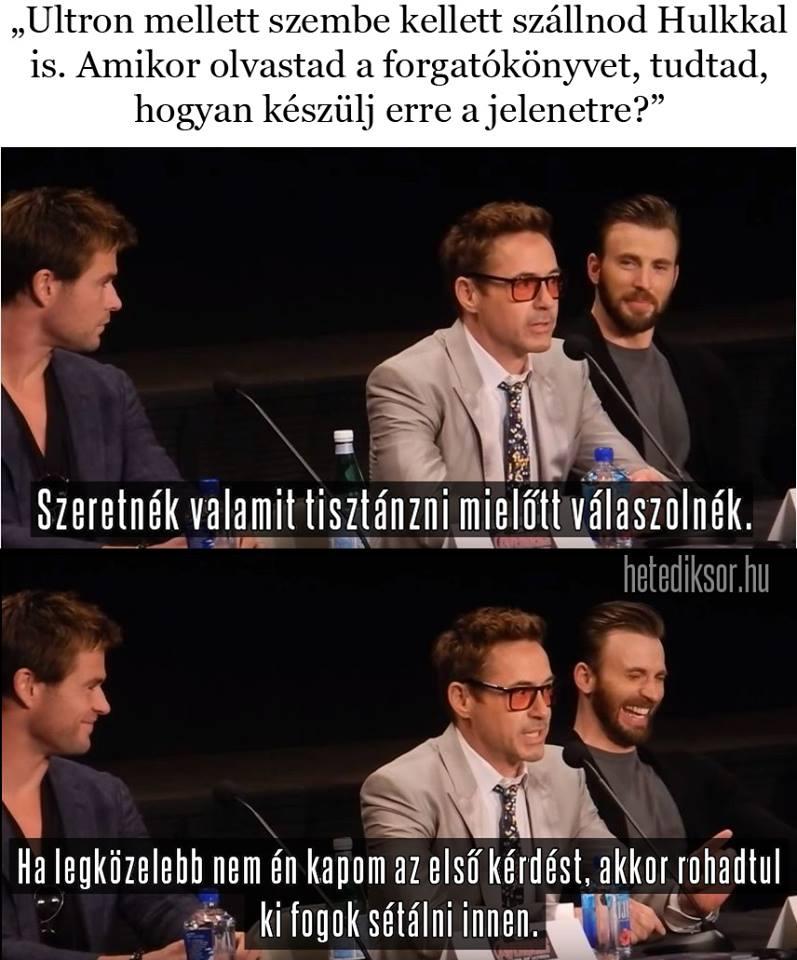 Robert Downey Jr. és az interjú