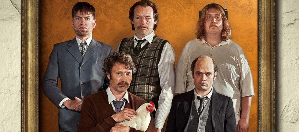 férfiak és csirkék