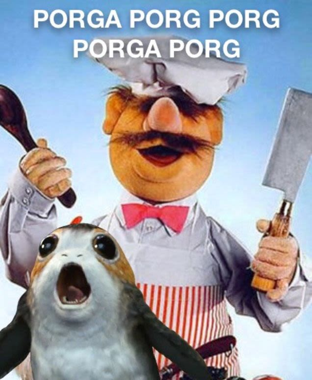 heres a large and ridiculous collection of porg humor that has flooded the internet54