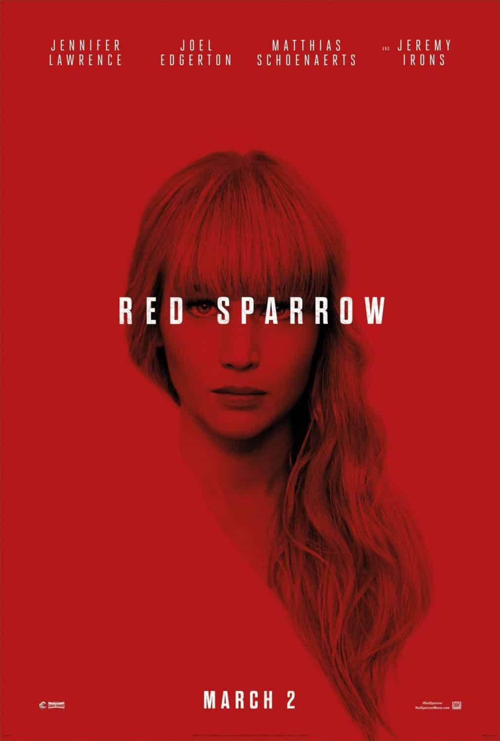 Red Sparrow Poster Jennifer Lawrence