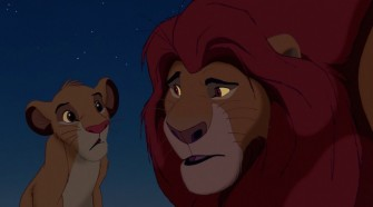 Simba and Mufasa talk in The Lion King