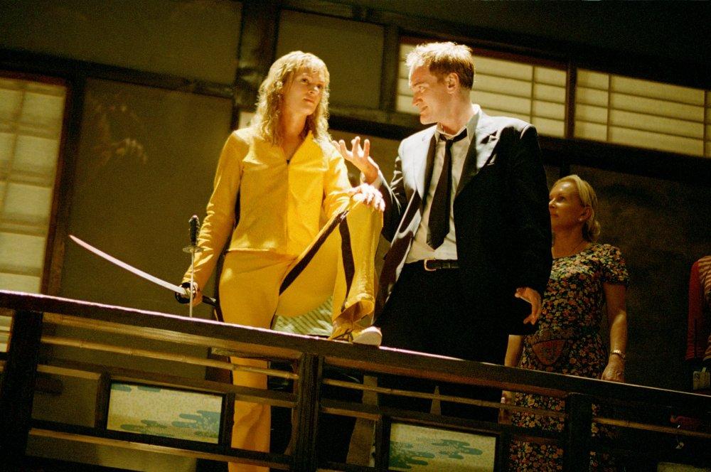 kill bill vol 1 2003 004 uma thurman quentin tarantino on set 00m wj7