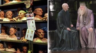 Goblins Ralphe Fiennes and Michael Gambon in Harry Potter