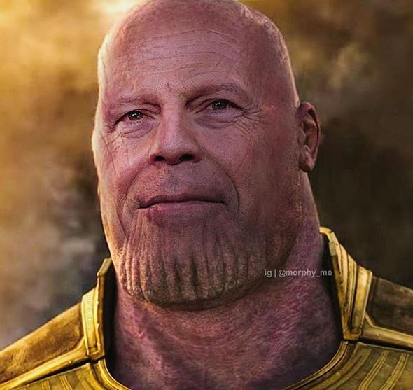 Thanos Bruce Willis