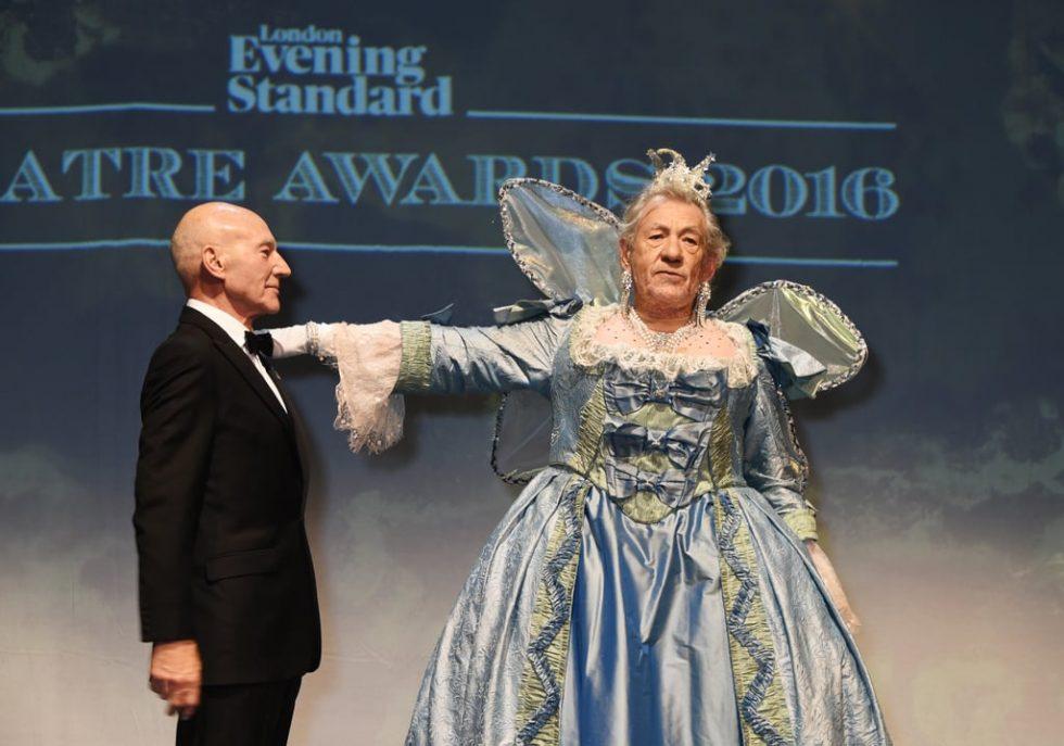 Ian McKellen Patrick Stewart Evening Standard Theatre
