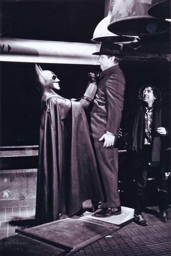 Michael Keaton Jack Nicholson and Tim Burton on the set of Batman