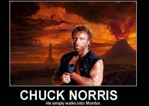 chuck norris mordor
