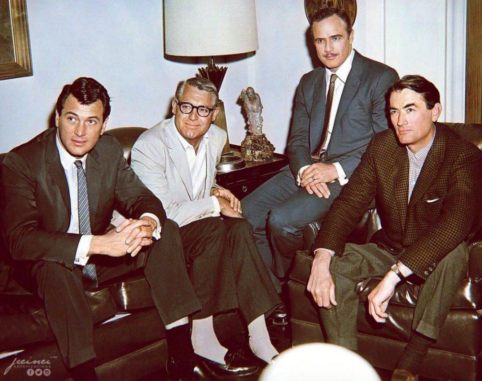 Rock Hudson Cary Grant Marlon Brando Gregory Peck 1962
