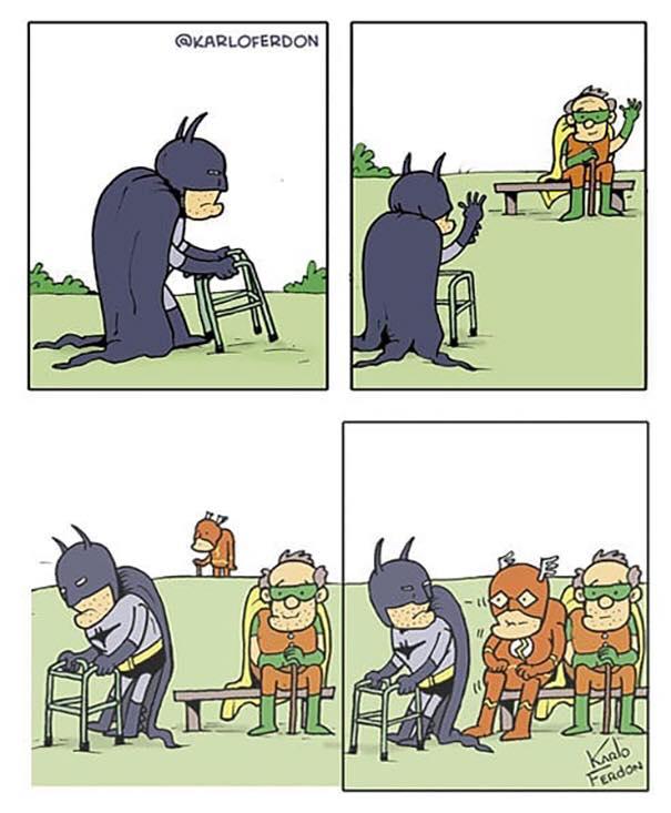 flash batman old
